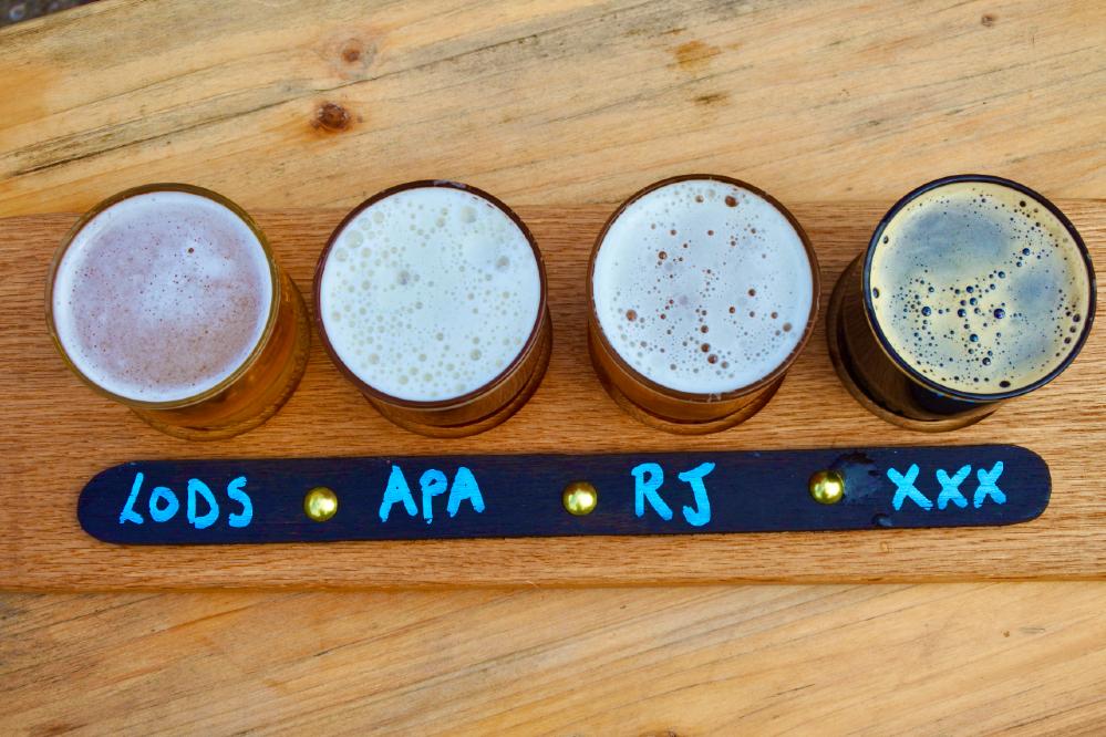 fresh beer on tap